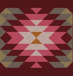 Ethnic geometric ornament kilim turkish woven rug vector