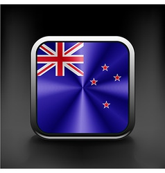 Flag of new zealand as round glossy icon vector