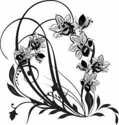 floral abstract vector image