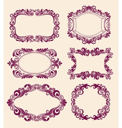 floral pattern border vector image vector image