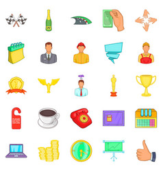 governance icons set cartoon style vector image