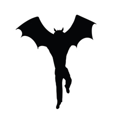 Half bat half man silhouette vector