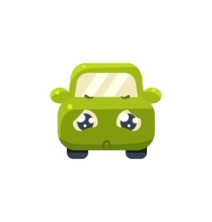 Hopeless green car emoji vector