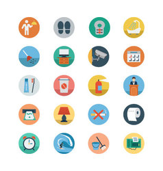 Hotel and restaurant flat colored icons 5 vector