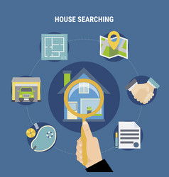 House searching concept vector
