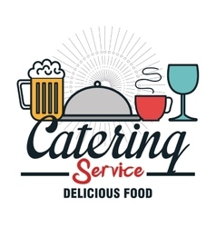 icon catering service food design vector image vector image