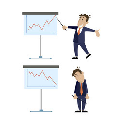 people and the presentation of growth and lowering vector image vector image