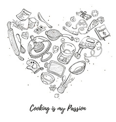 Poster about cooking vector image