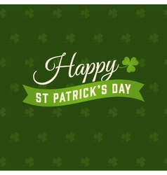 Saint patrick card vector