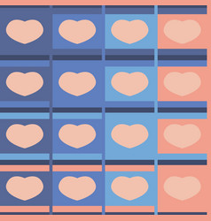 Seamless pattern hearts pastel vector