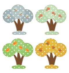 Season cartoon trees vector