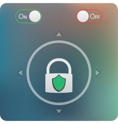 Slide to unlock button and on off buttons isolated vector