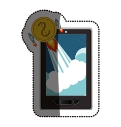 Smartphone and start up concept design vector