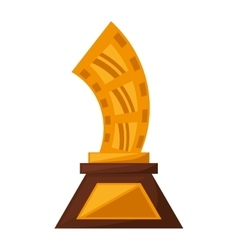 Strip film trophy awards golden vector