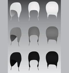 winter hats vector image vector image