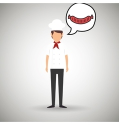 Chef cook food restaurant vector