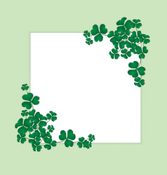 shamrock on white space vector image