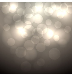 Abstract beige bokeh background vector image
