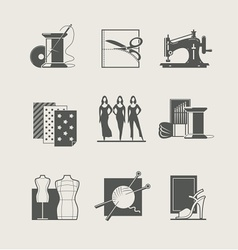 Sewing set of icons vector
