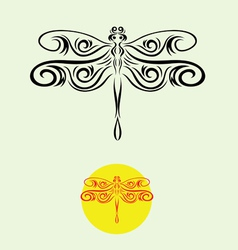 Dragonfly decor vector