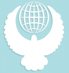 Globe and dove vector
