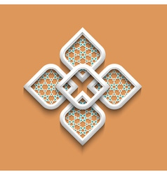 3d elegant pattern in arabic style vector image vector image