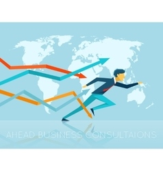 Ahead business consulting vector