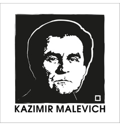 Artist kazimir malevich and black square vector