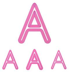 Pink letter a logo design set vector