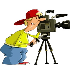 Man with camera vector