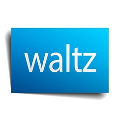 Waltz blue paper sign isolated on white vector