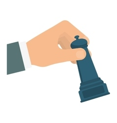 Hand and chess icon solution design vector