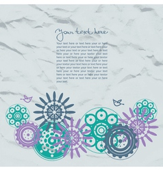 Abstract template floral background vector image