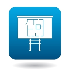 House on stilts icon simple style vector