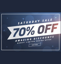 Amazing saturday discount and offer template vector