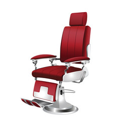 Barber chair vintage vector