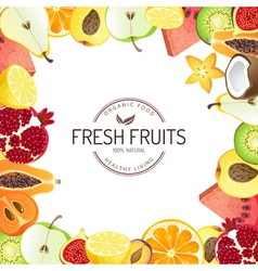 Bright background with fresh fruits vector
