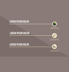 Business infographic design with icon label vector