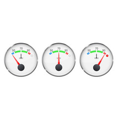 car engine temperature gauge cold normal and vector image vector image