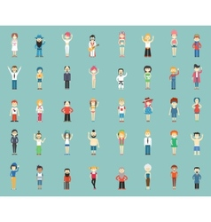 cartoon people vector image vector image