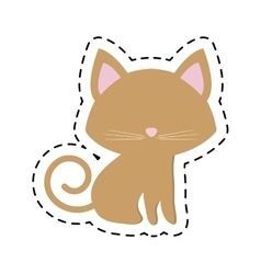 Cat pedigree feline adorable cut line vector