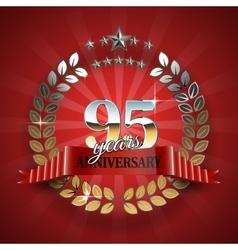 Celebrative Golden Frame for 95th Anniversary vector image