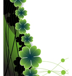Clover on the wavy green background vector
