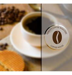 Coffee shop design elements vector image vector image