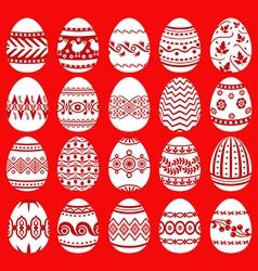 Easter egg set red vector