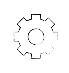 figure gear industry technology information icon vector image
