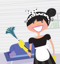 french maid vector image