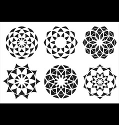 geometric decorative ornate vector image