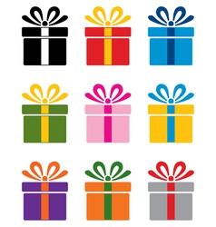 Gift box symbols vector
