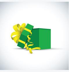 Green present gift vector